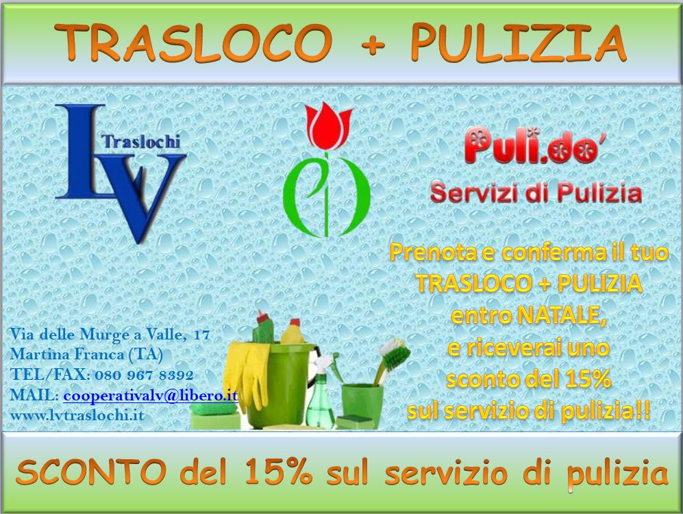 SCONTO TRASLOCO + PULIZA