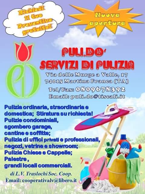 Nuovo servizio di pulizia Pulidò